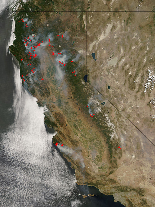 N. CA fires